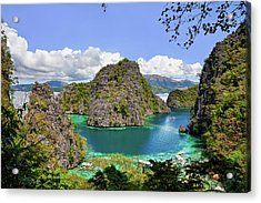 Beautiful Blue Lagoon At Kayangan Lake Acrylic Print by Fototrav