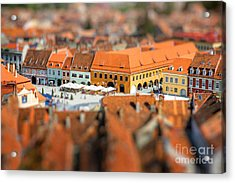 Beautiful Brasov Cityscape Top View In Acrylic Print