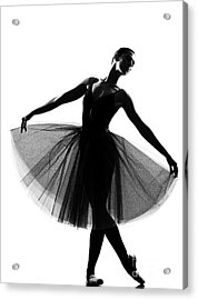 Beautiful Caucasian Tall Woman Ballet Acrylic Print