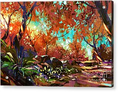 Beautiful Colorful Autumn Acrylic Print