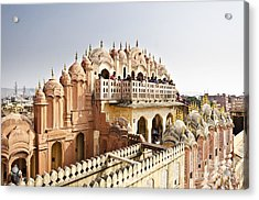 Beautiful Hawa Mahal At Jaipur Acrylic Print