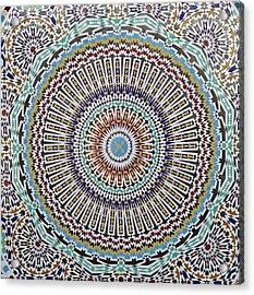 Beautiful Infinity Desgn Mosaic Fountain Acrylic Print