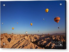Beautiful Landscape With Hot Air Acrylic Print