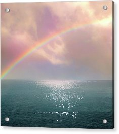 Beautiful Morning In Dreamland With Rainbow Acrylic Print