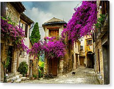 Beautiful Old Town Of Provence Acrylic Print