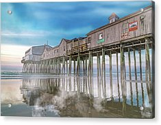Beautiful Pier Maine Morning Acrylic Print
