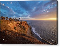 Beautiful Point Vicente Lighthouse At Sunset Acrylic Print