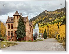 Acrylic Print featuring the photograph Beautiful Small Town Rico Colorado by James BO Insogna