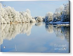 Beautiful Sunny Day In The Winter On Acrylic Print