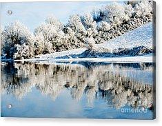 Beautiful Sunny Day In The Winter Season Acrylic Print