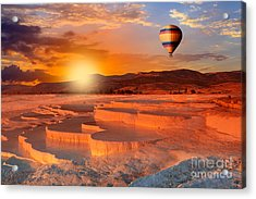 Beautiful Sunrise And Natural Acrylic Print
