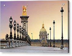 Beautiful Sunrise At The Pont Alexandre Acrylic Print