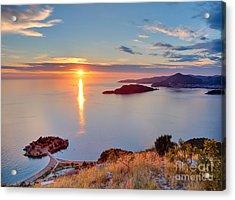 Beautiful Sunset Over Montenegro Acrylic Print