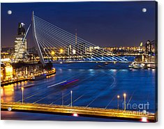 Beautiful Twilight View On The Bridges Acrylic Print
