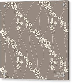 Beautiful Vector Seamless Pattern With Acrylic Print