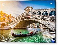 Beautiful View Of Traditional Gondola Acrylic Print