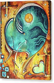Beautiful Whimsical Heart Love Symbolic Painting Live Your Truth By Madart Megan Duncanson Acrylic Print