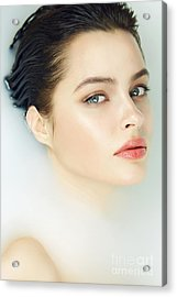 Beautiful Young Sexy Girl With Dark Acrylic Print by Indira's Work