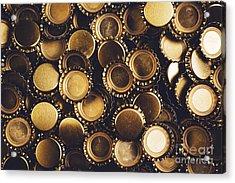 Beer Bottle Caps Piled Acrylic Print