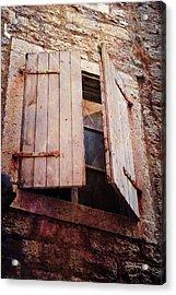 Acrylic Print featuring the photograph Behind Shutters by Randi Grace Nilsberg
