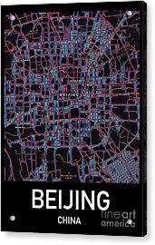 Beijing City Map Acrylic Print