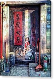 Beijing Hutong Wall Art Acrylic Print
