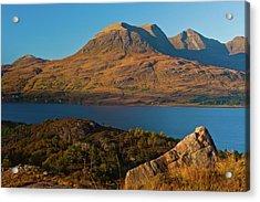 Beinn Alligin And Loch Torridon Acrylic Print by David Ross
