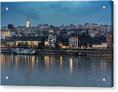Belgrade Skyline And Sava River Acrylic Print