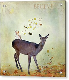 Acrylic Print featuring the digital art Believe by Sue Collura