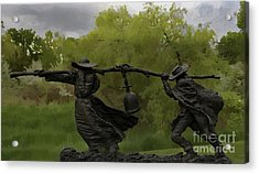Bell Keepers In A Storm Acrylic Print