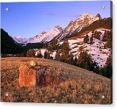 Bell Mountain Sunrise Acrylic Print by Leland D Howard
