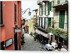 Acrylic Print featuring the photograph Bellagio Steet, Italy by Dawn Richards