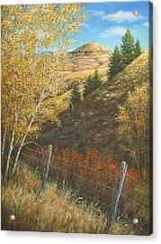 Belt Butte Autumn Acrylic Print