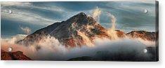 Acrylic Print featuring the photograph Ben Lomond Misty Sunset by Grant Glendinning