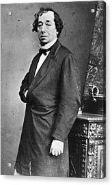 Benjamin Disraeli Acrylic Print by General Photographic Agency