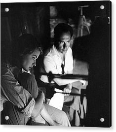 Bergman & Rossellini In Italy For Acrylic Print by Gordon Parks
