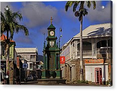 Acrylic Print featuring the photograph Berkeley Memorial Clock by Tony Murtagh