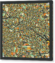 Berlin Map 2 Acrylic Print