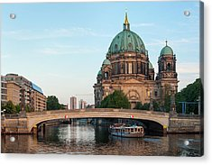Berliner Dom And River Spree In Berlin Acrylic Print