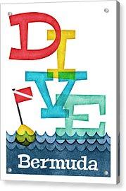 Bermuda Dive - Colorful Scuba Acrylic Print