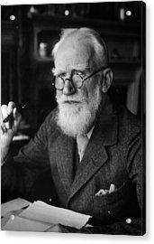 Bernard Shaw Acrylic Print by Hulton Archive