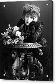 Bernhardt And Table Acrylic Print by Hulton Archive