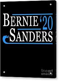 Acrylic Print featuring the digital art Bernie Sanders Blue Wave 2020 by Flippin Sweet Gear