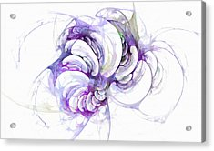Beyond Abstraction Purple Acrylic Print