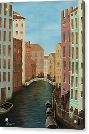 Beyond The Grand Canal Acrylic Print