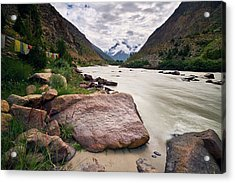 Acrylic Print featuring the photograph Bhag River by Whitney Goodey