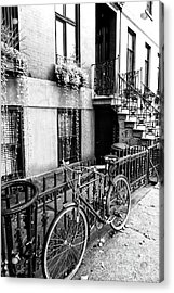 Bicycle In Greenwich Village New York City Acrylic Print