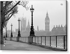 Big Ben & Houses Of Parliament, Black Acrylic Print by Tkemot