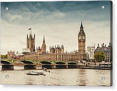 Big Ben And The Parliament In London Acrylic Print by Knape