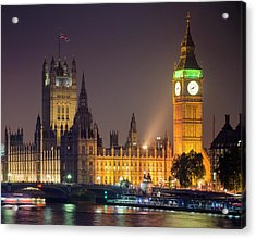 Big Ben At Night, London Acrylic Print by Cescassawin